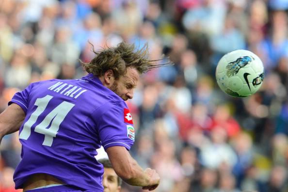 Fiorentina's defender Cesare Natali head