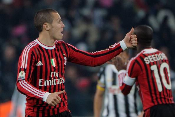AC Milan's Algerian defender Djamel Mesb