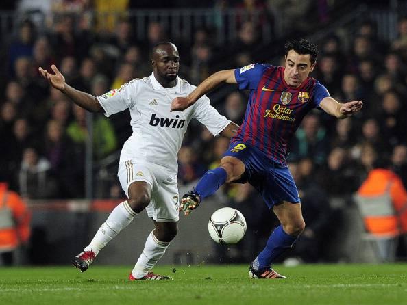 Real Madrid's French midfielder Lassana