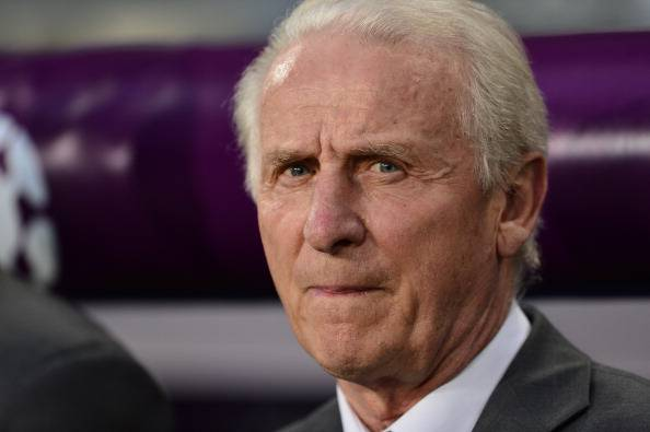 Irish headcoach Giovanni Trapattoni look