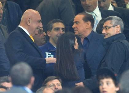 AC Milan's president Silvio Berlusconi (