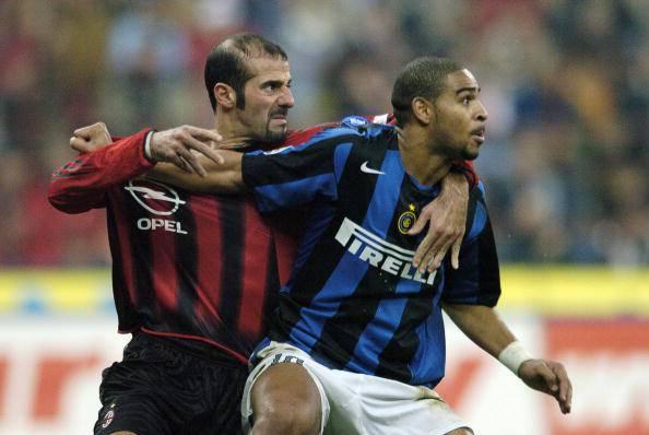 AC Milan's defender Giuseppe Pancaro (L)
