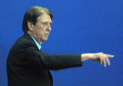 Milan AC's new coach Cesare Maldini directs his te