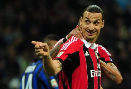AC Milan's Swedish forward Zlatan Ibrahi