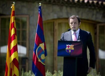 Barcelona's new president Sandro Rosell