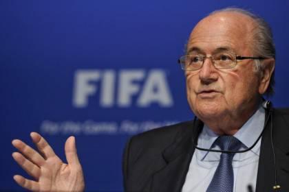 FIFA president Joseph Blatter gestures d