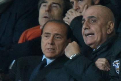 AC Milan's president Silvio Berlusconi a