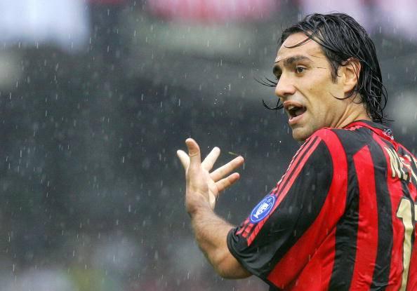 AC Milan's defender Alessandro Nesta rea