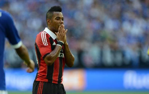 AC Milans Brazilian striker Robinho reac