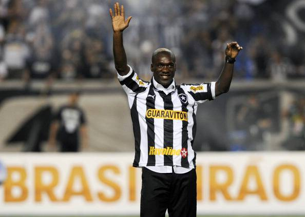 Dutch footballer Clarence Seedorf waves