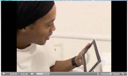 dinho1 420x249 Video   Ronaldinho non è più il Dentone: 50 mila euro per denti nuovi smaglianti!