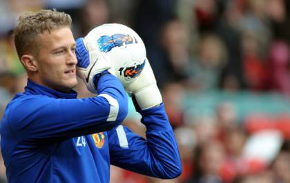 Manchester United's Danish goalkeeper An