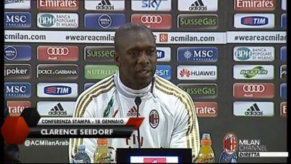 Seedorf Conferenza  Stampa