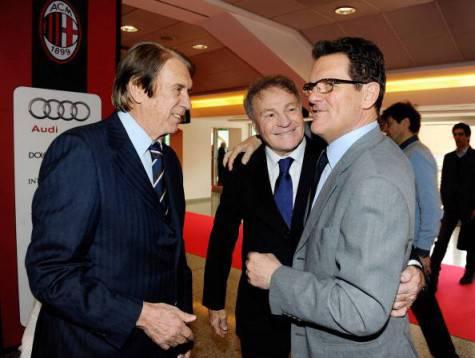 Cesare Maldini, Jpsè Altafini e Fabio Capello (Getty Images)