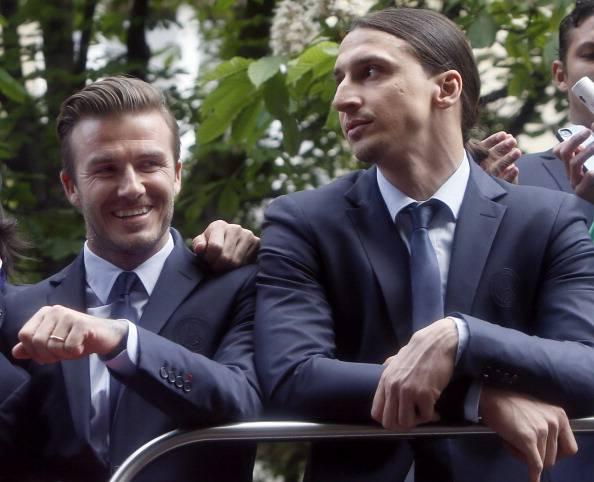 David Beckham e Zlatan Ibrahimovic (Getty Images)