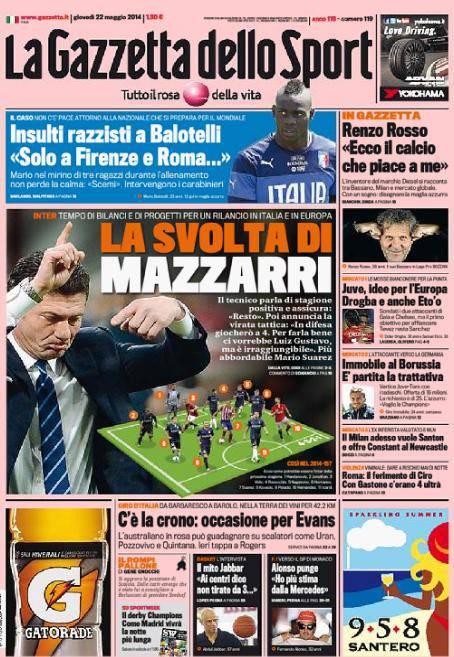Gazzetta dello Sport 22-05-2014