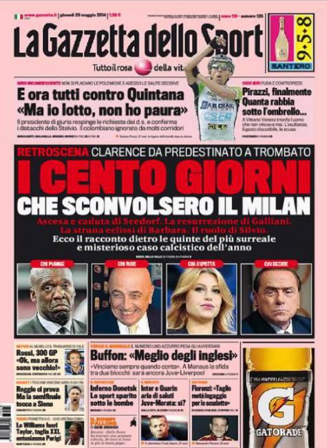 La Gazzetta dello Sport 29-05-2014