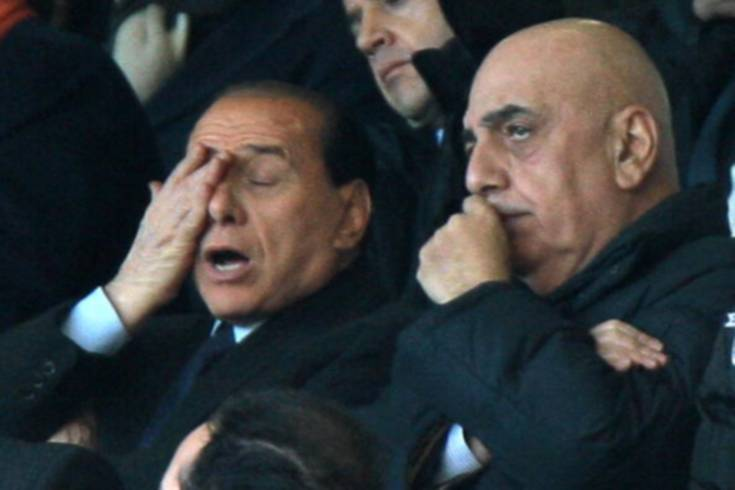 Adriano Galliani Silvio Berlusconi
