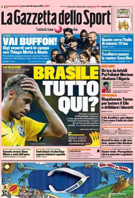 La Gazzetta dello Sport 18-06-2014