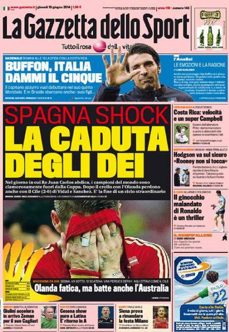 La Gazzetta dello Sport 19-06-2014