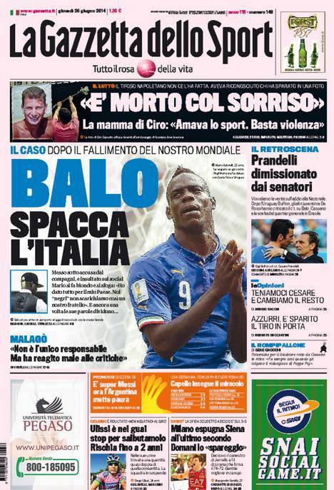 La Gazzetta dello Sport 26-06-2014
