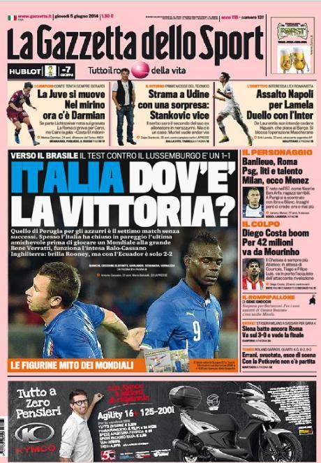La Gazzetta dello Sport 05-06-2014