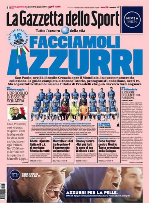 Gazzetta dello Sport - 12/06/2014