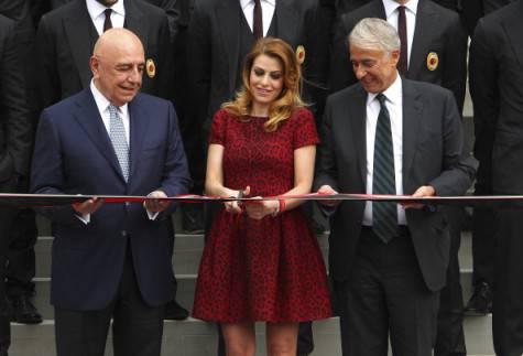 Adriano Galliani, Barbara Berlusconi e Giuliano Pisapia (Getty Images)