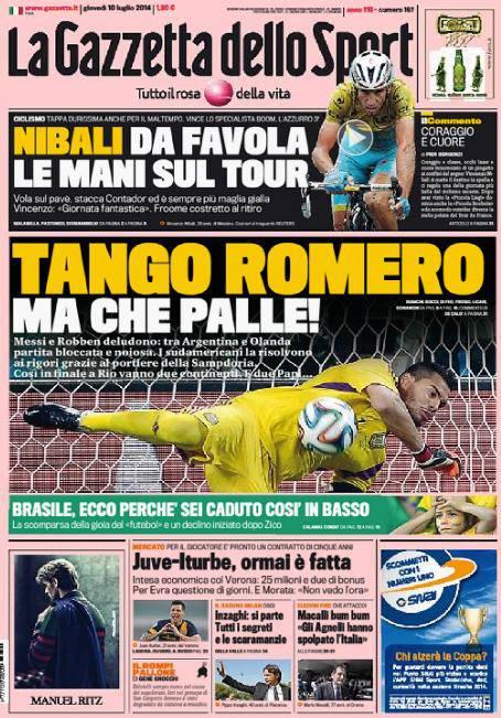 Gazzetta dello Sport 10-07-2014