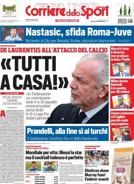 Corriere dello Sport - 3 luglio 2014