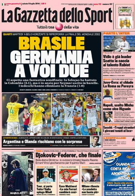 Gazzetta dello Sport - 05/07/2014