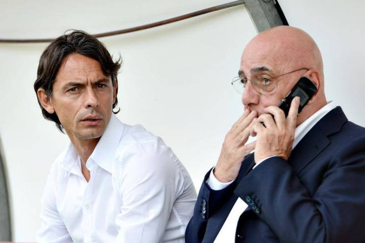 Filippo Inzaghi & Adriano Galliani (Getty Images)