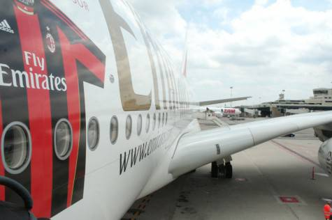 L'aereo del Milan