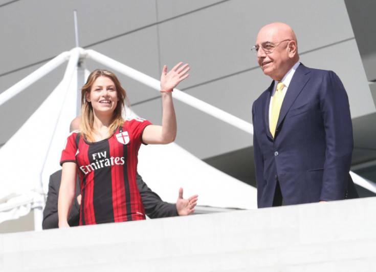 Barbara Berlusconi e Adriano Galliani (foto dal web)