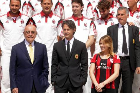 Galliani Inzaghi e Lady B