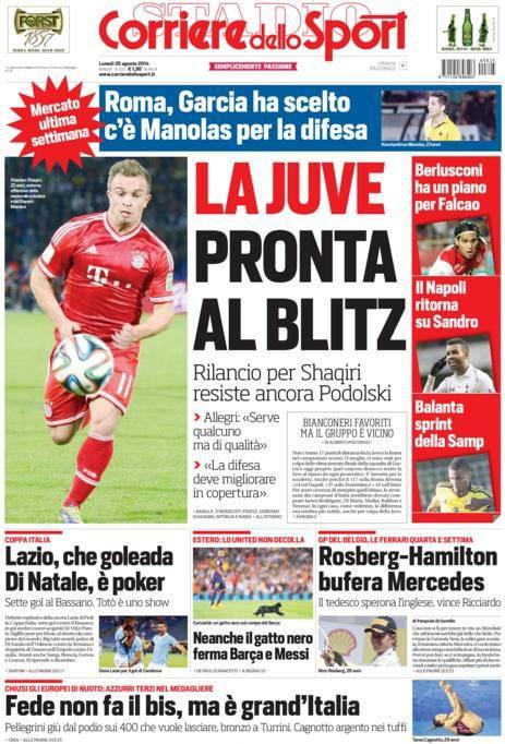 Corriere dello Sport 25-08-2014