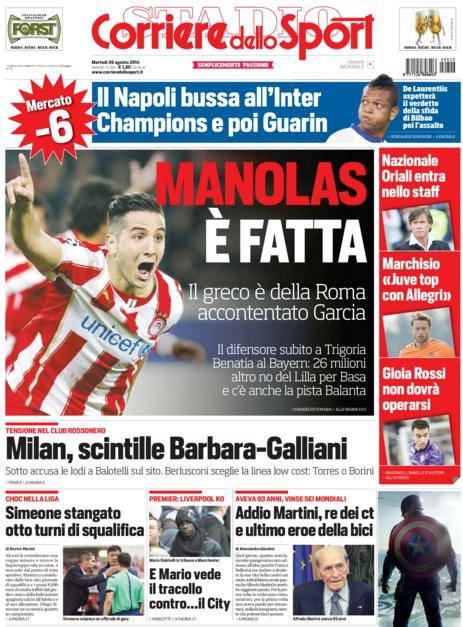 Corriere dello Sport 26-08-2014