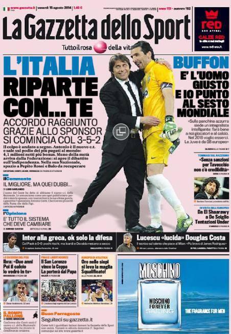 La Gazzetta dello Sport 15-08-2014
