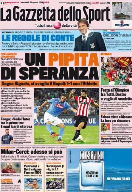 La Gazzetta dello Sport 20-08-2014