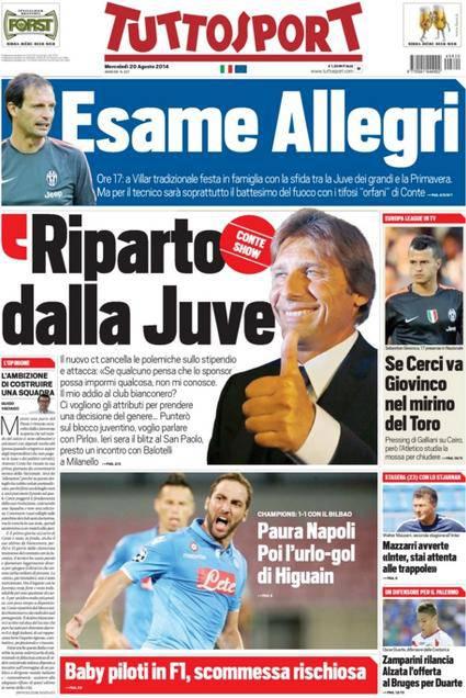 Tuttosport 20-08-2014