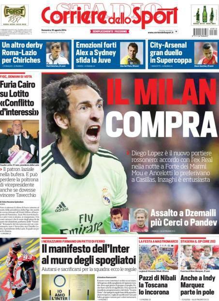 Corriere dello Sport 10-08-2014