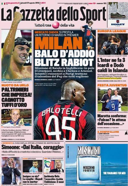 La Gazzetta dello Sport 21-08-2014