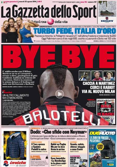 La Gazzetta dello Sport 22-08-2014