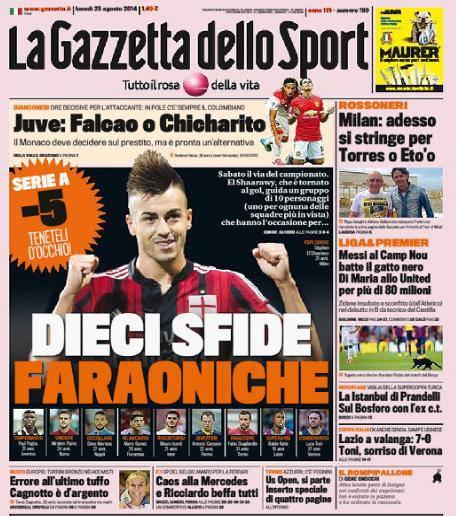 La Gazzetta dello Sport 25-08-2014