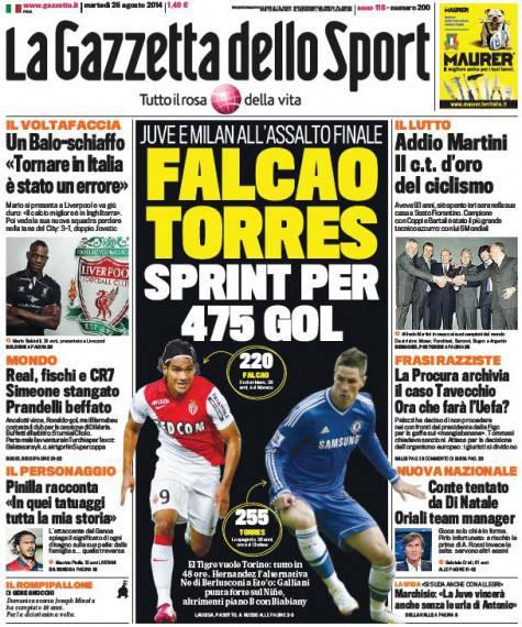 La Gazzetta dello Sport 26-08-2014