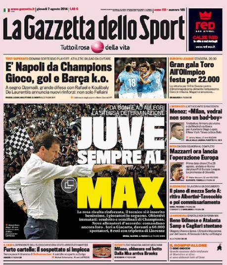 La Gazzetta dello Sport 07-08-2014
