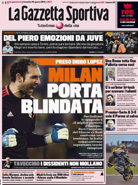 Gazzetta dello Sport 10-08-2014