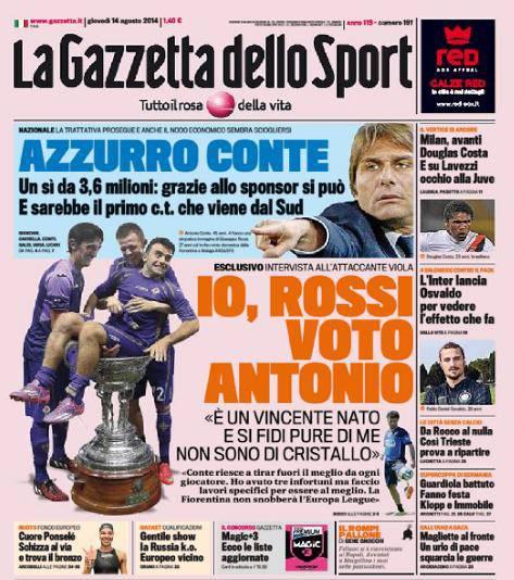 Gazzetta dello Sport 13-08-2014