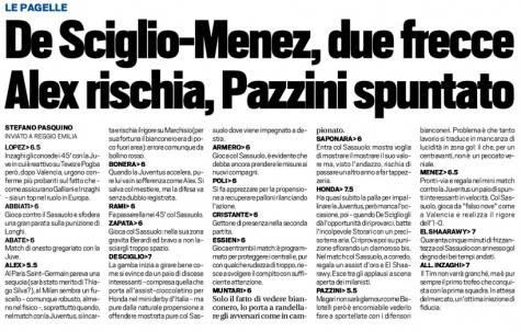 Pagelle Milan (Tuttosport)
