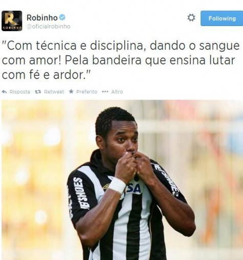 Robinho tweet